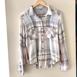 Free People plaid shirt - Size Small